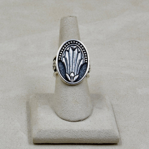 Sterling Silver Egyptian Lotus 7x Ring by Roulette 18