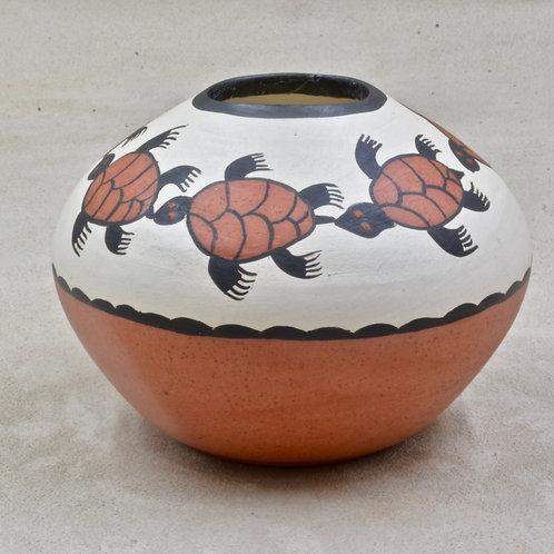 Acoma Turtle Vase by Dos Mono