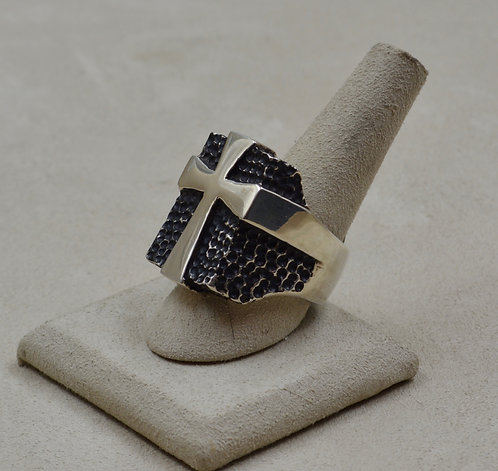 Sterling Silver Crusade 12.5x Ring by JL McKinney