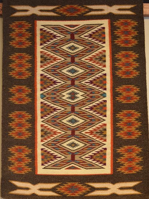 "Genevieve Curtis Teec Nos Pos Navajo Weaving - 40"" X 27"""
