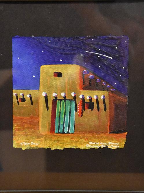 """Star Door"" Framed Acrylic on Handmade Paper by David Gary Suazo"