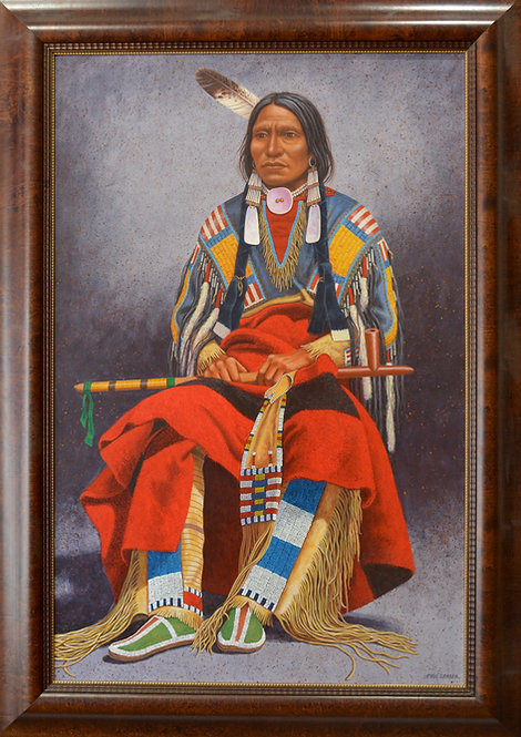 "Chief Portrait - 63"" X 45"" by Paul Surber"