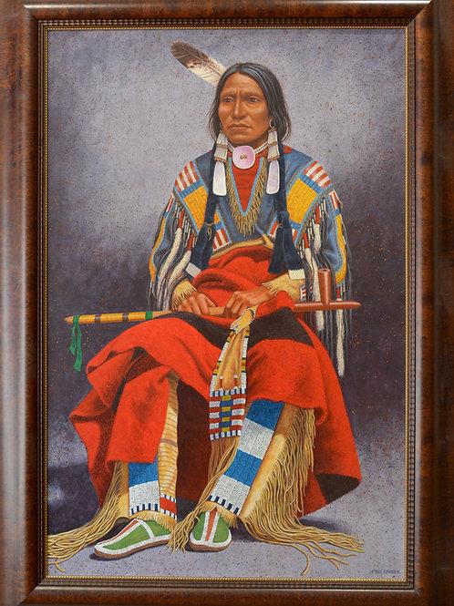 """Chief Portrait - 63"""" X 45"""" by Paul Surber"""