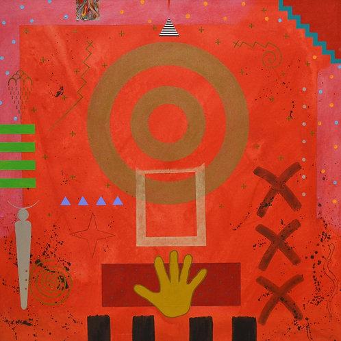 """Red Vision"" by Doug Coffin, Potawatomi"