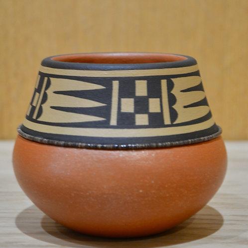 Small Pot w/ Penn Shell - Heishi, Micaceous Bottom - by Cavan Gonzales