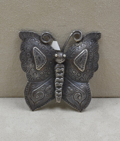 Vintage 30's/40's Butterfly Sterling Silver Pin