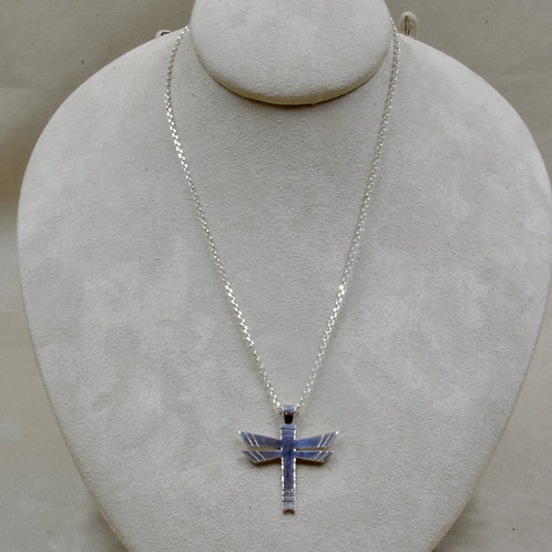 """Sterling Silver Dragonfly Pendant on 18"""" Chain Necklace by John Paul Rangel"""