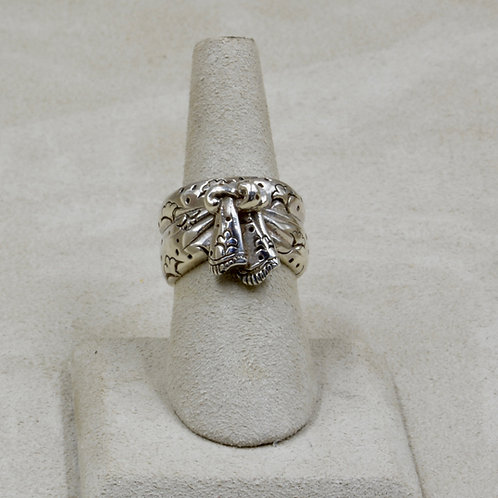 Sarong Wrap Sterling Silver 7x Ring by Roulette 18