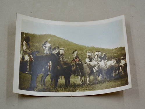 Antique Photo of War Chiefs on Horses