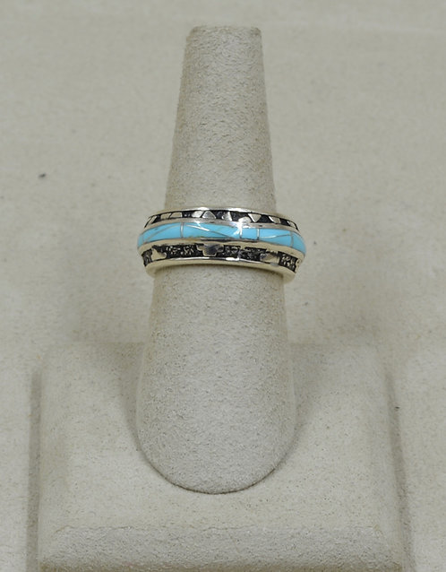 Sleeping Beauty Turquiose & Sterling Silver 6.5x Ring by GL Miller Studio
