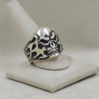 Flaming Skull Ring 13X by JL McKinney