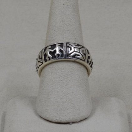 Sterling Silver Partner 8X Ring by Michael & Melanie Lente