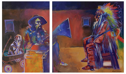 "Diptych - ""Wagon Day and Big Foot's Opera"" by Farrell Cockrum"