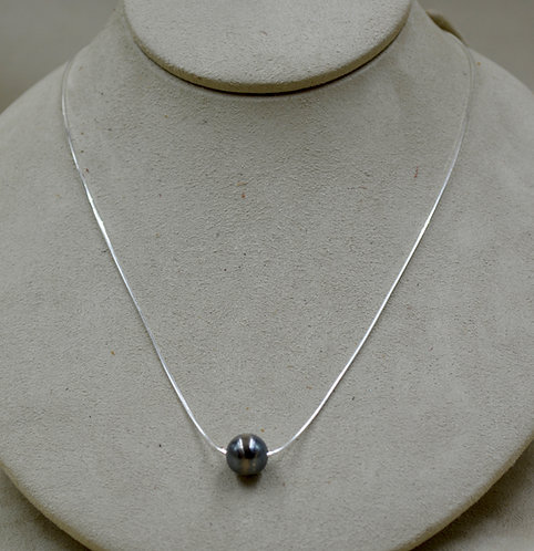 """Sterling Silver & SS Oxidized Navajo Pearl 18"""" Necklace by Sippecan Designs"""