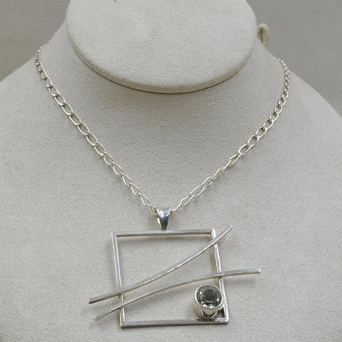 Peridot & Sterling Silver Pendant on Chain by Michele McMillan