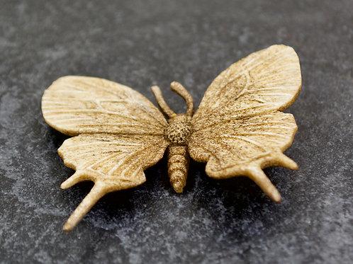 "Moose Antler Brown Butterfly Fetish - 2 5/8"" X 3"" by Artifactual"