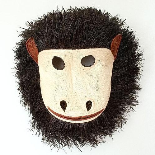 "Grande Fuzzy Monkey Emberá Mask by Dorotea Zabugara - 19""W x 21""H"
