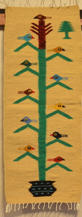 """Table Runner - Yellow Tree of Life - 15"""" X 40"""""""