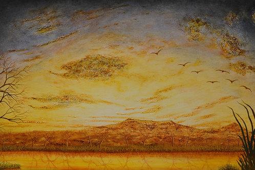 """""""Evening Enchangement - 36"""" x 60"""" by Ken Bonner"""