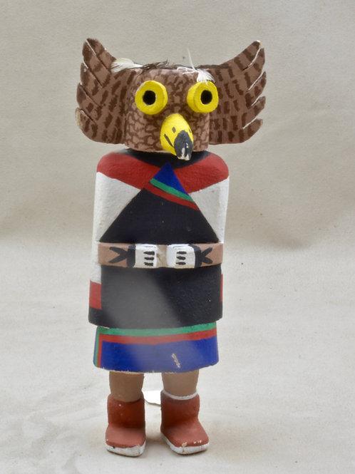 """Great Owl Kachin, Hopi - 7.5"""" x 2"""""""