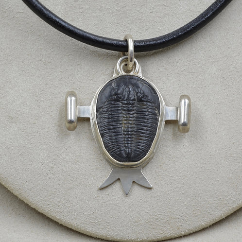 Sterling Silver Pendant w/ Trilobite Fossil by Joe Glover