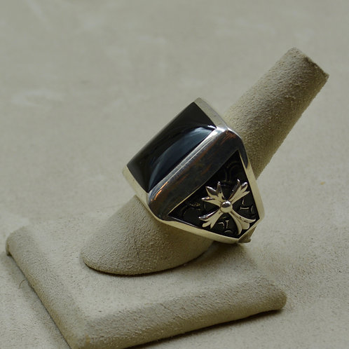 Stone Temple Onyx & Sterling Silver 10x Ring by JL McKinney