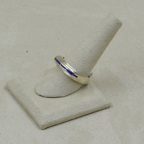 Lapis and Sterling Silver 10.5x Ring by GL Miller Studio