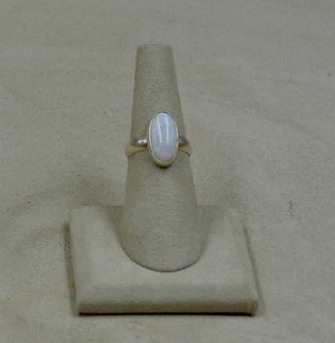 Natural Australian Opal and Sterling Silver 6.5x Ring by Joe Glover