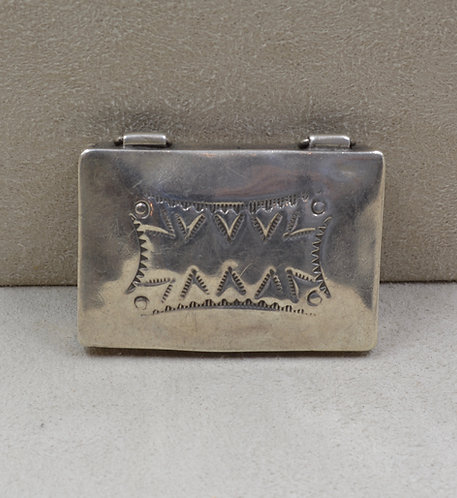 Vintage Sterling Silver Stamped Box