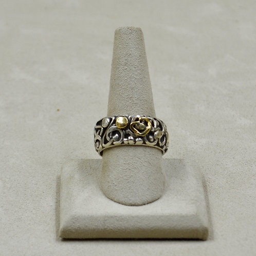 Non Objective Hand-Forged Silver & Gold 11x Ring by Robert Mac Eustace Jones