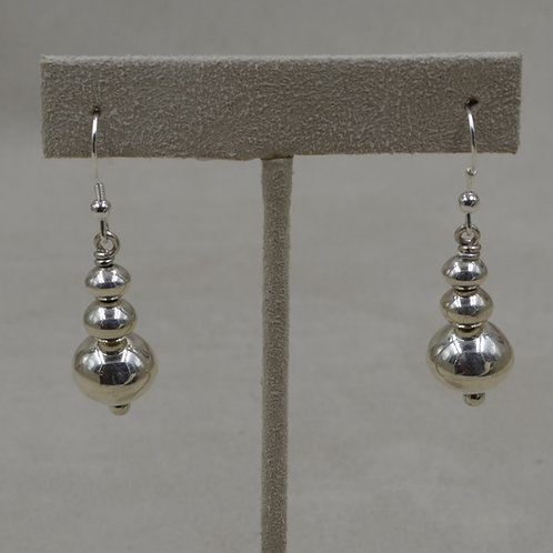 "Sterling Silver 5/8"" Plain Wire Earrings by Bryan Joe"