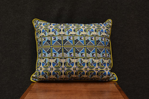 """Deco Pattern"" Art Pillow by Libby Chadd"