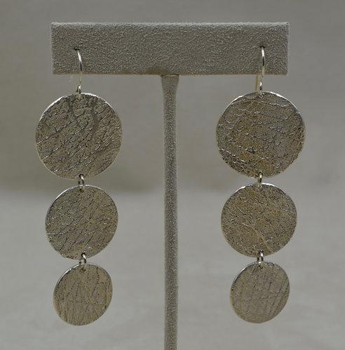 Triple Disc Sterling Silver Wires Earrings by Mark Roanhorse Crawford