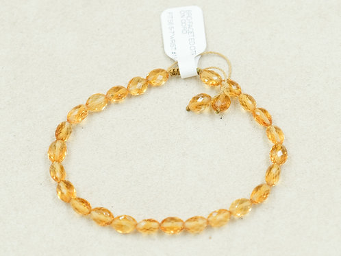 Citrine Faceted On Cord Bracelet by True West Jewelry