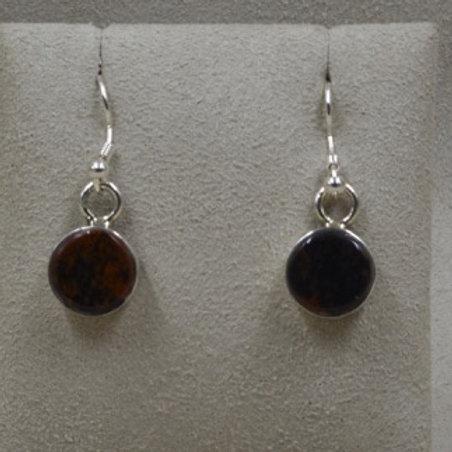 Mahogany Obsidian Earrings by Dukepoo