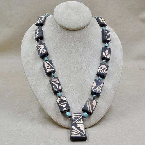 Handmade Pottery Tab Necklace by Robert Tenorio