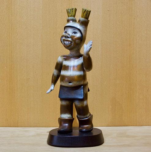 """""""Hands Up Koshare""""  Bronze Sculpture by Kathleen Wall, Jemez Pueblo"""