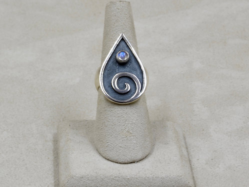 Spiral Sterling Silver 8x Ring by Roulette 18