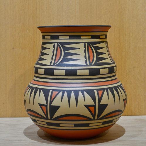 Large Double Shoulder Plant Design Pot by Cavan Gonzales