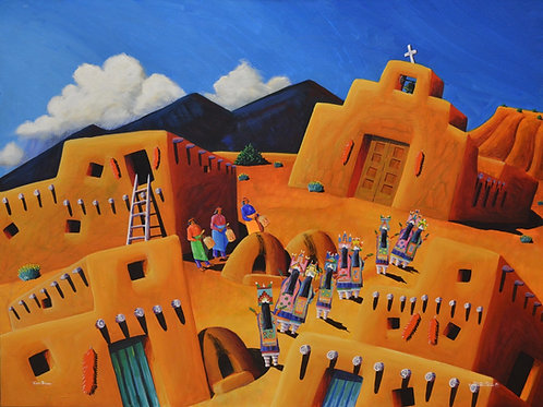 """Corn Dance"" by David Gary Suazo, Taos Pueblo"