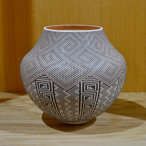 Micro Pattern Pot by Frederica V Antonia - Acoma Pueblo