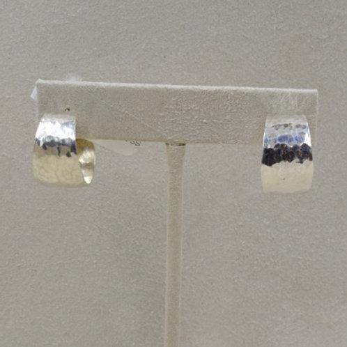 Sterling Silver Baby Hammered Gail Hoop Earrings by Richard Lindsay