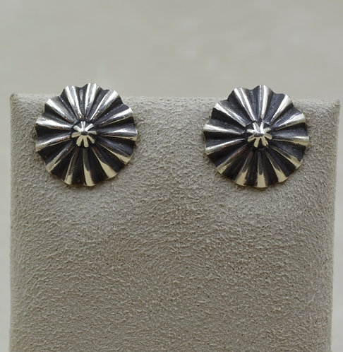 "Sterling Silver 3/4"" Post Button Earrings by Lapidary Mastery"