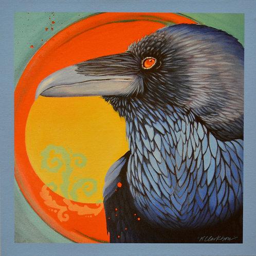 """""""Raven Vortex"""" Giclee on Canvas - 20"""" x 20"""" - by Karen Clarkson"""