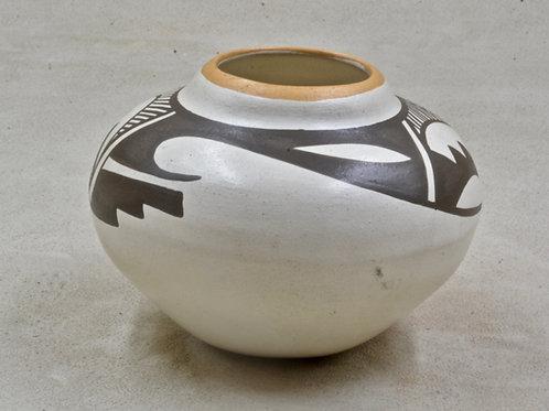 Isleta Pueblo Bowl by Stella Teller, 1975