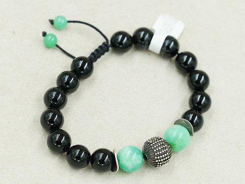 Black Onyx, & Chrysoprase Meditation Bracelet by Reba Engel