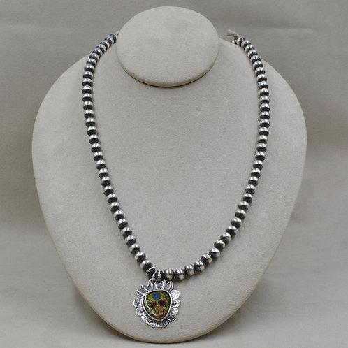 Sterling Silver de los Muertos Necklace by Shoofly 505