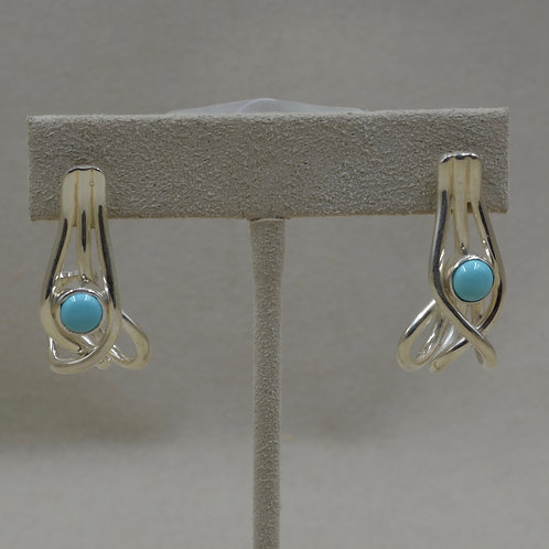 Journey Earrings with Sleeping Beauty Turquoise by Tim Busch