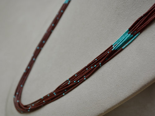 10 Strand 2mm Pipestone Sleeping Beauty Turquoise Necklace