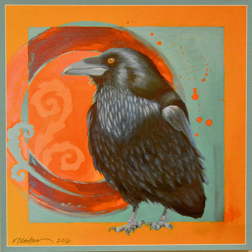 """Ravenesque"" Giclee on Canvas - 20"" x 20"" - by Karen Clarkson"